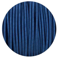 Vintage Dark Blue Fabric 3 Core Round Italian Braided Cable 0.75mm - Vintagelite