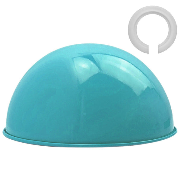 Retro Style Dome Light Blue Metal Easy Fit Ceiling Pendant Light Shade