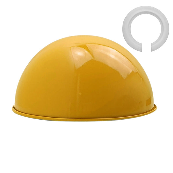 Yellow Dome Ceiling Light in Lampshades