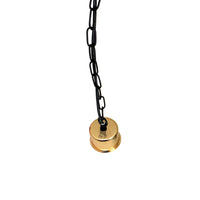 French Gold E27 Holder With Black Chain