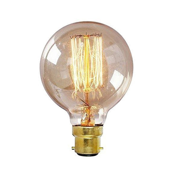 Dimmable G80 B22 60W Globe Industrial Vintage Filament Bulb - Vintagelite