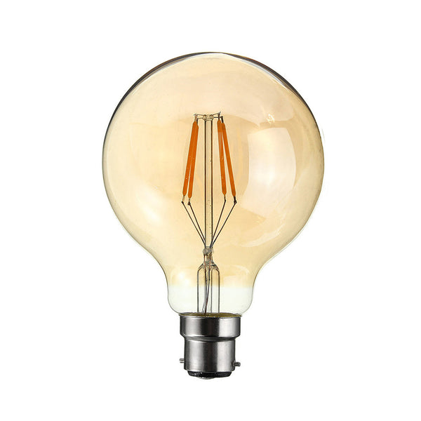 LED G80 B22 4W Dimmable Globe Industrial Vintage Bulb - Vintagelite