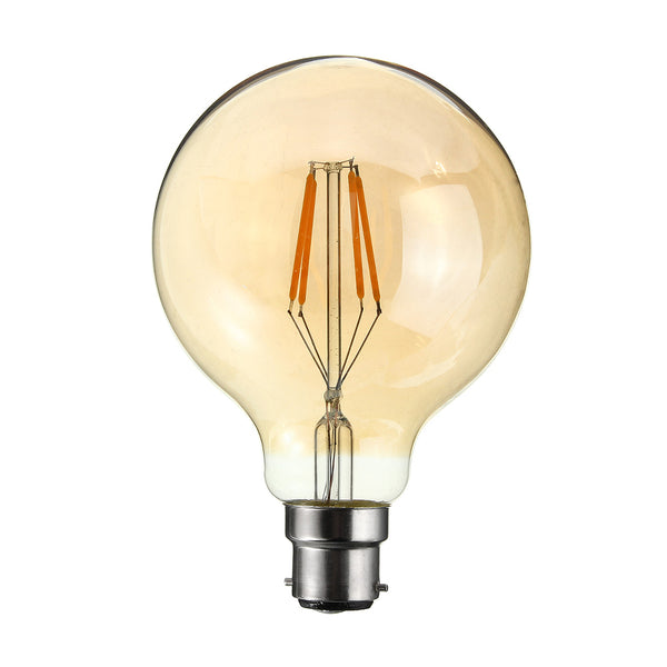 LED G95 B22 4W Dimmable Globe Industrial Vintage Bulb - Vintagelite