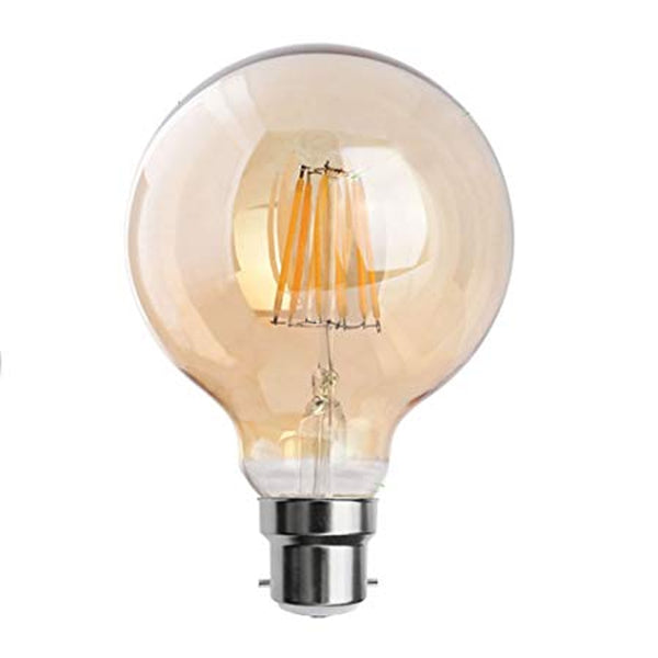 LED G95 B22 8W Dimmable Globe Industrial Vintage Bulb - Vintagelite