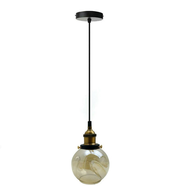 Lamp Glass Globe Shade Vintage Industrial Ceiling Light - Vintagelite