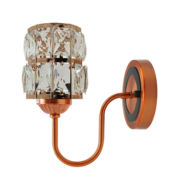 Industrial Orange Wall Light Fitting Home Lighting Indoor Crystal Lights - Vintagelite