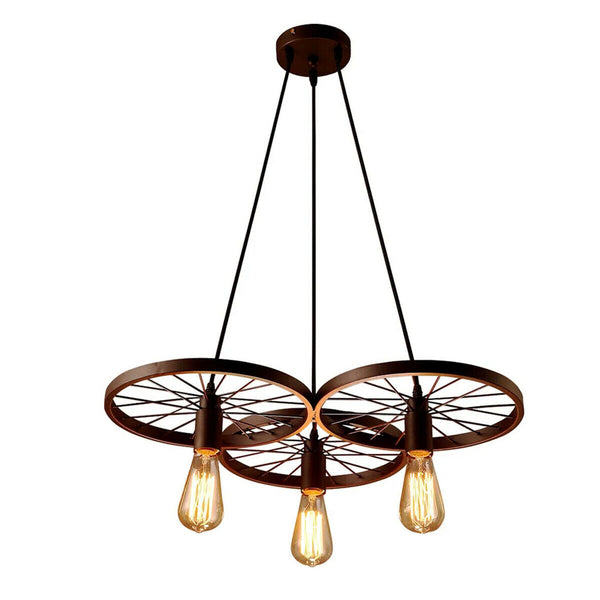 Industrial Vintage Wheel Ceiling Light Pendant Lamp Edison Lighting Fixture - Vintagelite