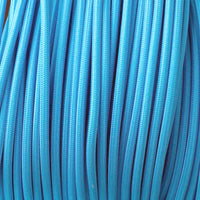Vintage Light Blue Fabric 2 Core Round Italian Braided Cable 0.75mm - Vintagelite
