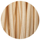 Vintage Light Gold Fabric 3 Core Round Italian Braided Cable 0.75mm - Vintagelite