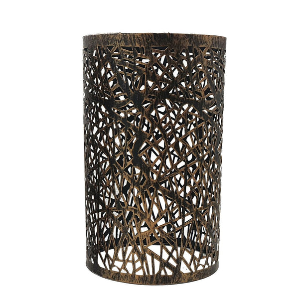 Modern Drum Lampshade Brushed Copper Colour Retro Style - Vintagelite