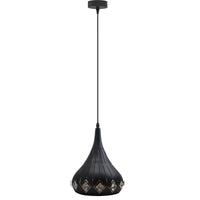 Modern Pendant Light Industrial Vintage Ceiling Retro Style Metal + Crystal Lamp - Vintagelite