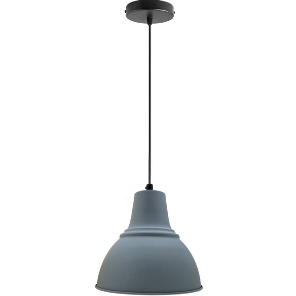 Grey Metal Lampshade in Home and Furniture Lighting