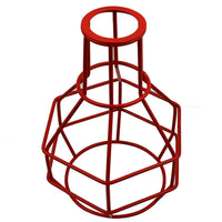 Bird Nest Chandelier Red Wire cage - Vintagelite