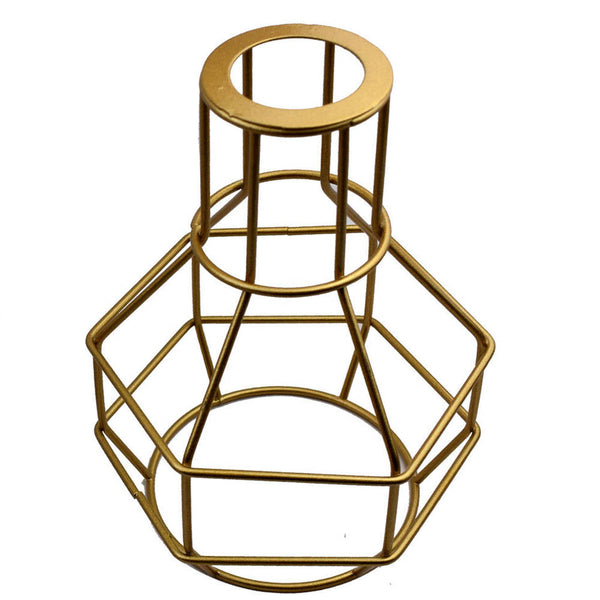 Nest Wire Cage Lampshade Gold Lighting Shade - Vintagelite