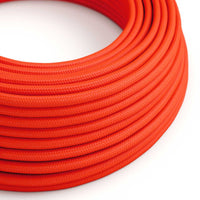 Vintage Orange Fabric 3 Core Round Italian Braided Cable 0.75mm - Vintagelite