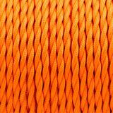Orange Twisted Vintage fabric Cable Flex0.75mm 3 Core - Vintagelite