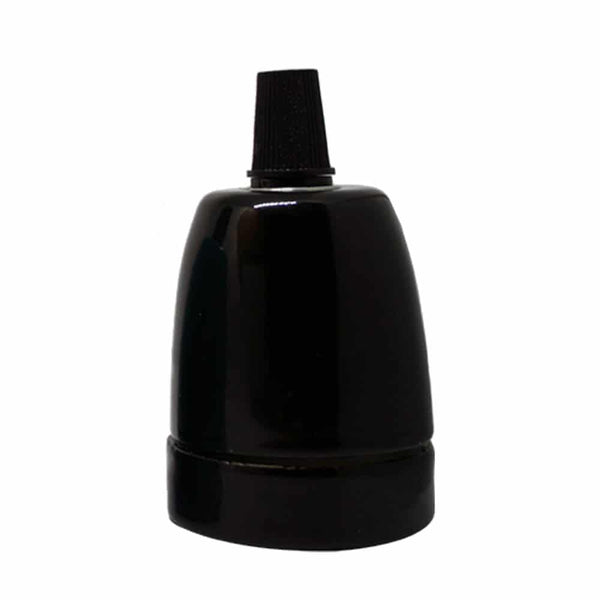 E27-Black-Porcelain-Lamp-Holder