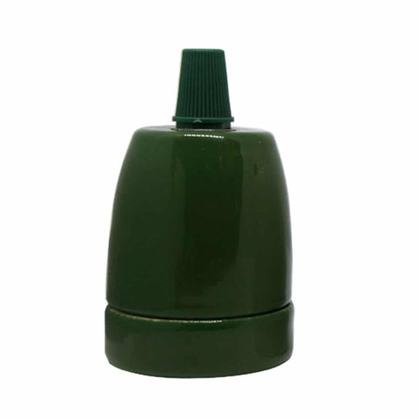 E27-Green-Porcelain-Lamp-Holder
