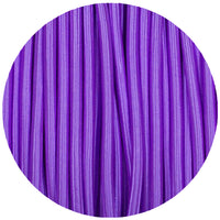 Vintage Purple Fabric 3 Core Round Italian Braided Cable 0.75mm - Vintagelite