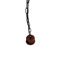 Rastic Red E27 holder with black chain