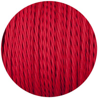 3 Core Twisted Red Vintage Electric fabric Cable Flex 0.75mm - Vintagelite