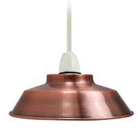 Retro Style Light Shades Modern Ceiling Pendant Lampshades Metal Various Colours - Vintagelite