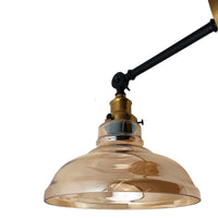 Retro Style Lighting Amber Glass Shade Vintage Industrial Glass Loft Wall Light - Vintagelite