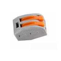 Reusable spring lever terminal block electrical cable clamp wire 2 connector