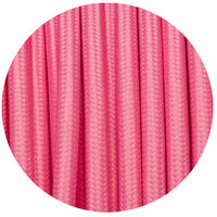 Vintage Pink Fabric 2 Core Round Italian Braided Cable 0.75mm - Vintagelite