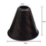 Rustic Red Cone Shape Metal Lamp Shades Easy Fit Pendant Light Shade - Vintagelite