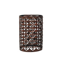 Rustic Red Colour Drum Lampshade Modern Metal Shade Retro Style - Vintagelite