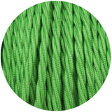 Light Green Twisted Vintage fabric Cable Flex0.75mm 3 Core - Vintagelite