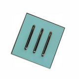 Screw less Wall Light 3 Gang Blue Glossy Switch - Vintagelite
