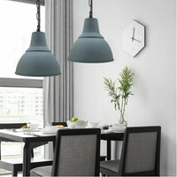 Industrial Retro Pendant Light Suspended Ceiling Light Style Metal Lamp Shade Grey