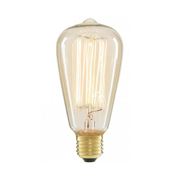 Dimmable ST64 E27 60W Globe Industrial Vintage Filament Bulb - Vintagelite