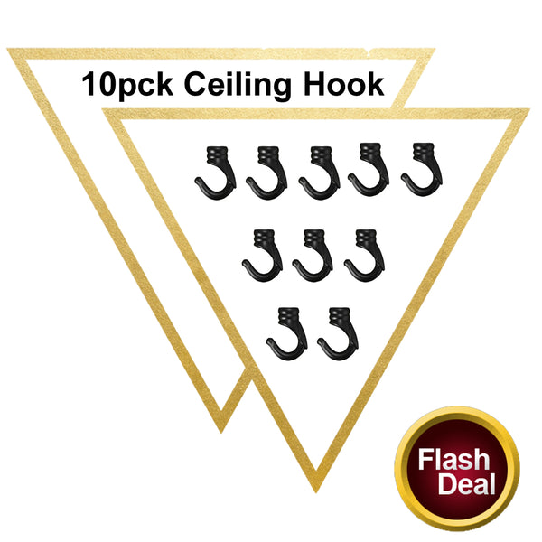 10 Pack Black Vintage Ceiling Hook For Pendants Fixtures Chandelier Hanging Light Holder - Vintagelite