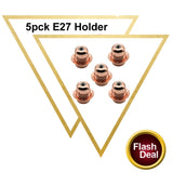 5 Pack Vintage Industrial Copper Lamp Light Antique Retro Edison Bulb Holder E27 Fitting - Vintagelite