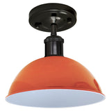 Vintage Ceiling Light Modern Orange Dome Pendant Lampshade