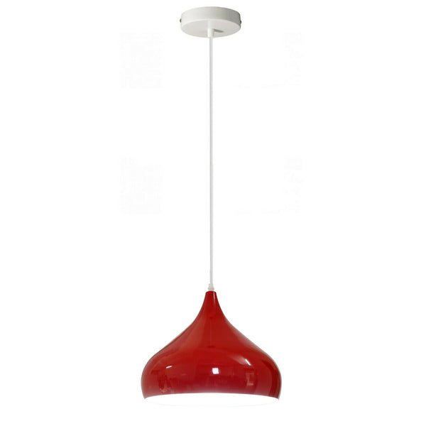 Red Industrial Metal Cage Ceiling Pendant Light Shade - Vintagelite