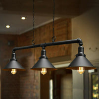 Metal Water Pipe Vintage Light Fitting Pendant Lighting 3 Outlet Hanging Lights