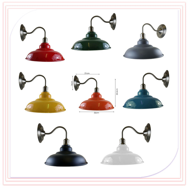 Colour Wall Light Fitting Painted Metal Lamp