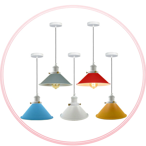 Metal Ceiling Pendant Shade Modern Hanging UK