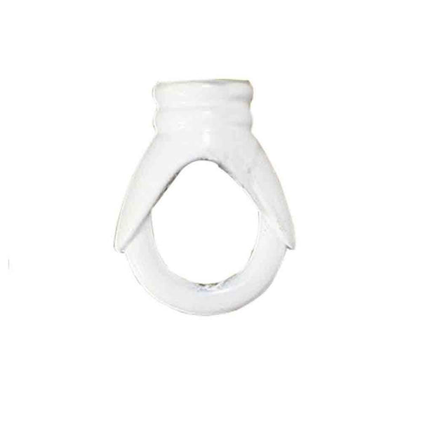 White Hook Ring Vintage Ceiling Hook For Pendants Fixtures Chandelier Hanging Light Holder - Vintagelite
