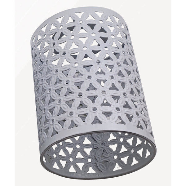 Easy Fit Ceiling Pendant Lampshade Industrial Metal Cage Wire Light White