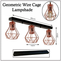 Wire Cage Lampshade Metal Pendant Light - Vintagelite