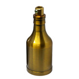 Yellow Brass Bottle Type Bulb Holder Pendant Light - Vintagelite