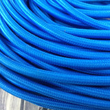 Vintage Blue Fabric 3 Core Round Italian Braided Cable 0.75mm - Vintagelite