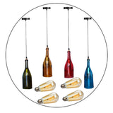 Vintage Retro Wine bottle Ceiling Pendant Light Lamp Shade Chandelier light UK - Vintagelite