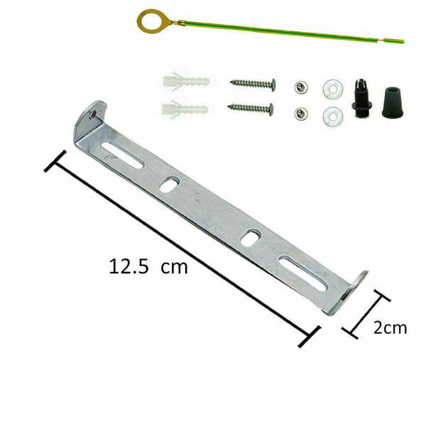 ceiling rose Light Fixing strap brace Plate 125mm bracket with accessories - Vintagelite
