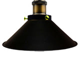 Vintage Flat Black Pendant Light Lamp Shades - Vintagelite